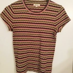 Madewell Baby Ribbed Tee in Stripe